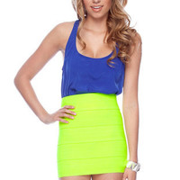 Sleek Racerback Tank Top in Royal Blue :: tobi