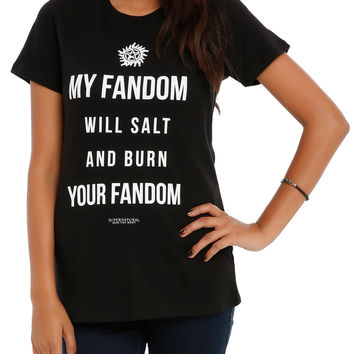 Supernatural My Fandom Girls T-Shirt