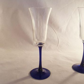 Crystal Flutes with Tulip Shape  S/2