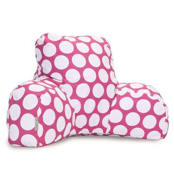 Hot Pink Large Polka Dot Reading Pillow