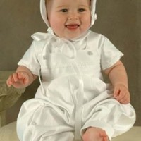 Sawyer Matte Satin Christening Outfit