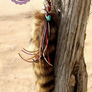 Key Stone Raccoon Tail Keychain by Rowdy Crowd