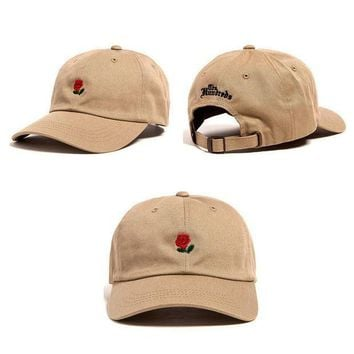 ONETOW Day-First? Khaki The Hundreds Rose Strap Cap Adjustable Golf Snapback Baseball Hat