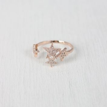 Shiny Rhinestone Star Ring