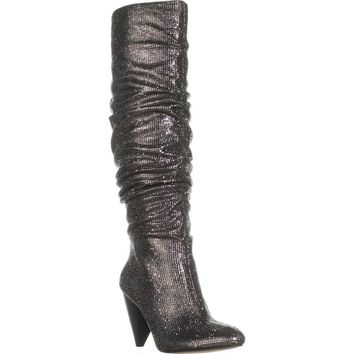 I35 Gerii2 Knee-High Slouch Boots, Pewter, 9 US
