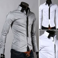 Men's Slim Fit Cotton Dress Shirt