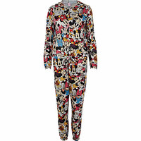 Black Mickey Mouse print all-in-one - all in ones - loungewear / all in ones - women