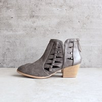 'Alesso' chunky stacked heel cut out bootie - more colors