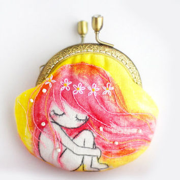 Embroidery Fairy Coin Purse (Metal Frame)