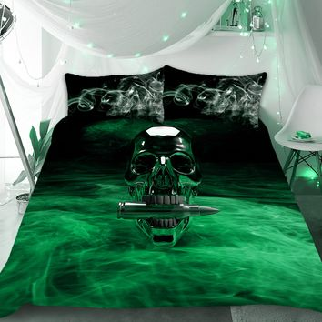 Bullet Skull Duvet Bedding Set