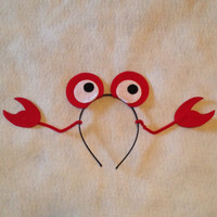 Crab lobster Under the sea ocean beach Theme Headbands birthday party favors supplies decor costume fish crab red eyes claws little mermaid