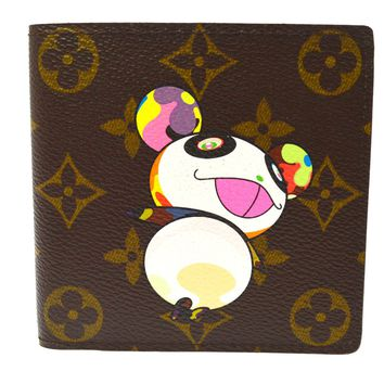 AUTHENTIC LOUIS VUITTON MONOGRAM PANDA TAKASHI MURAKAMI WALLET M61666 AK21246