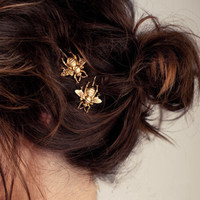 Korean Gold Hair Clip Hair Accessories Headwear Accessory [6056830465]