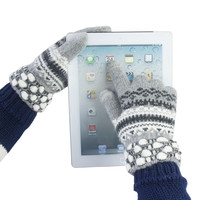 Trible Pattern Woolen Glovers for Screen Touch