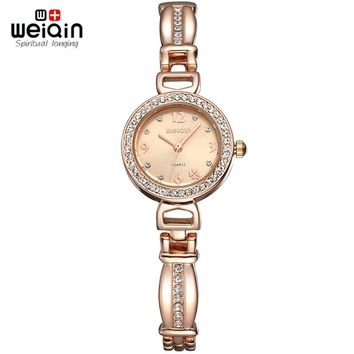 Pearls shell Dial Crystal Rose Gold Women's Bracelet Watches