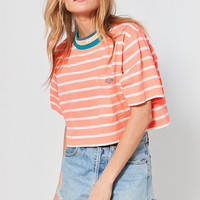 Gotcha X UO Mock-Neck Striped Cropped Tee | Urban Outfitters