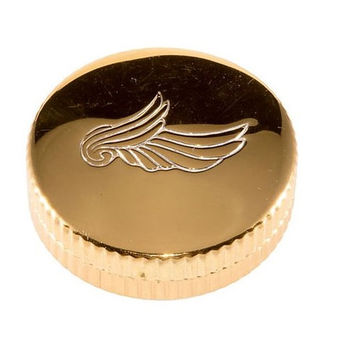 Art Deco Rouge Compact Evening in Paris BOURJOIS Vintage Vanity Case 1940s Gold Wing UNUSED 40's Beauty Collectible Tin Winged Lid Pill Box