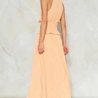 Make Ends Pleat Maxi Dress
