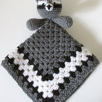 Raccoon Lovey PDF Crochet Pattern - INSTANT DOWNLOAD