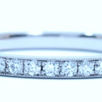 0.50ct Eternity Ring Round Diamonds Platinum JEWELFORME BLUE