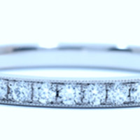 0.30ct Eternity Ring Round Diamonds White Gold 18kt White JEWELFORME BLUE Stack Ring