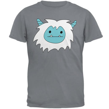 Christmas Abominable Yeti Gravel Grey Adult T-Shirt