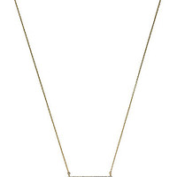 Michael Kors Bar Delicate Necklace - Silver