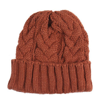 Willow Cable Knit Beanie Hat