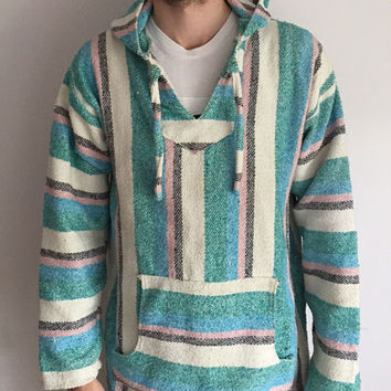 Vintage Mexican drug rug. V rare colors!