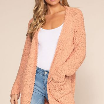 Cozy Beginnings Cardigan - Blush