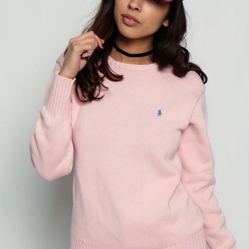 Shop Pastel Pink Sweater on Wanelo