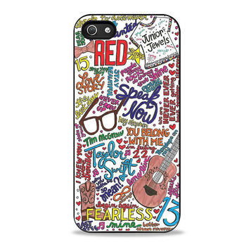 taylor swift lyric music Iphone 5 Case