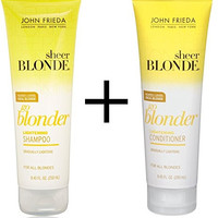 John Frieda Sheer Blonde Go Blonder Lightening Shampoo and Conditioner, 8.45 Fluid Ounce