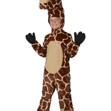 Child giraffe Winter Halloween Cosplay Costumes Adorable And Cozy Outfit Winter Warm Fleece Dress Up Animal Clothes