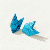 Diament Jewelry X Urban Renewal Blue Stone Arrow Stud Earring- Blue One