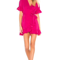 Line & Dot Cherie Dress in Fuchsia