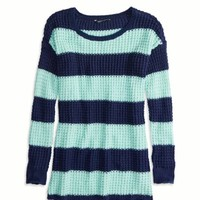 AEO Factory Striped Knit Sweater