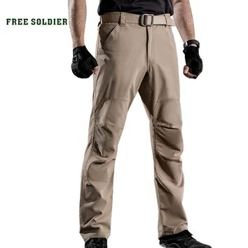FREE SOLDIER outdoor sports camping hiking tactical men's military pants wear-resistant slim trousers