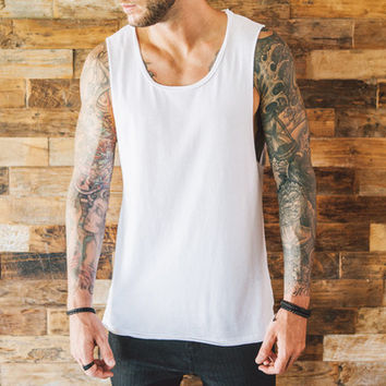 Fishtail Sleeveless x White