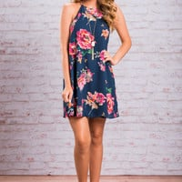Bright And Blissful Dress, Navy