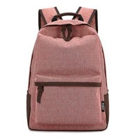 MONDAYNOON Canvas Vintage Style/Retro Style Backpack Travelling Bag Schoolbag for student/University girls and boys (Rose red): Amazon.ca: Office Products
