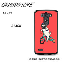 Pug Bicycle For LG G3 Case UY