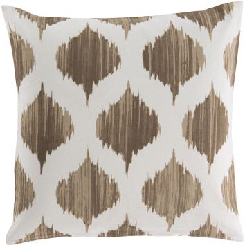 Ogee Throw Pillow Brown, Neutral