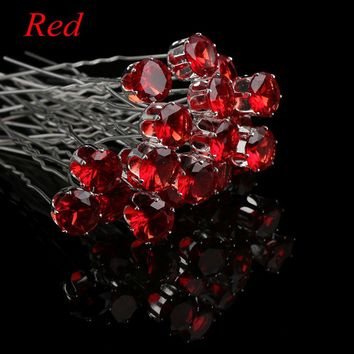 20PCS/pack Hot Sale Fashion Clear Crystal Rhinestone Hairpins Women Hair Clips Wedding Bridal Hair Jewelry Accessories