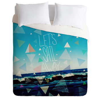 Leah Flores Lets Sail Away Duvet Cover