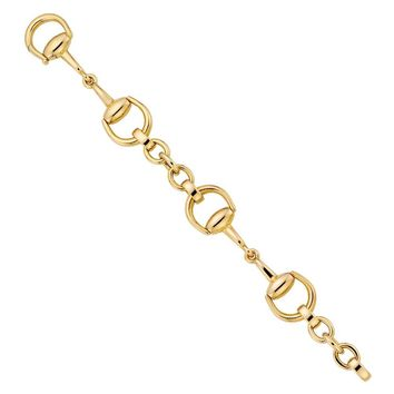 Gucci Horsebit Bracelet in 18k Yellow Gold