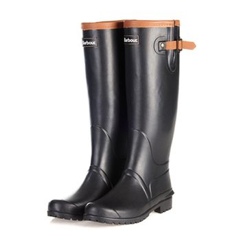 Blyth Wellington Boots in Black by Barbour