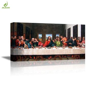 JHLJIAJUN Nordic Bible Last Supper Modular Painting Nordic Wall Art Print And Poster Dining Living Room Home Decor Painting