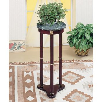 Ideally Classic Accent Table, Merlot Brown