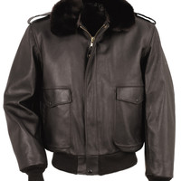 A-2 Naked Cowhide Leather Flight Jacket 184SM